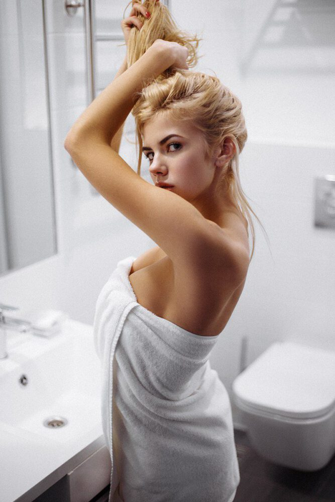 Natalya Krasavina In White Lingerie