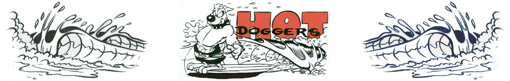 hotdoggers surf club logo