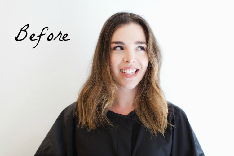 Before Short wavy lob hairstyle, (3)
