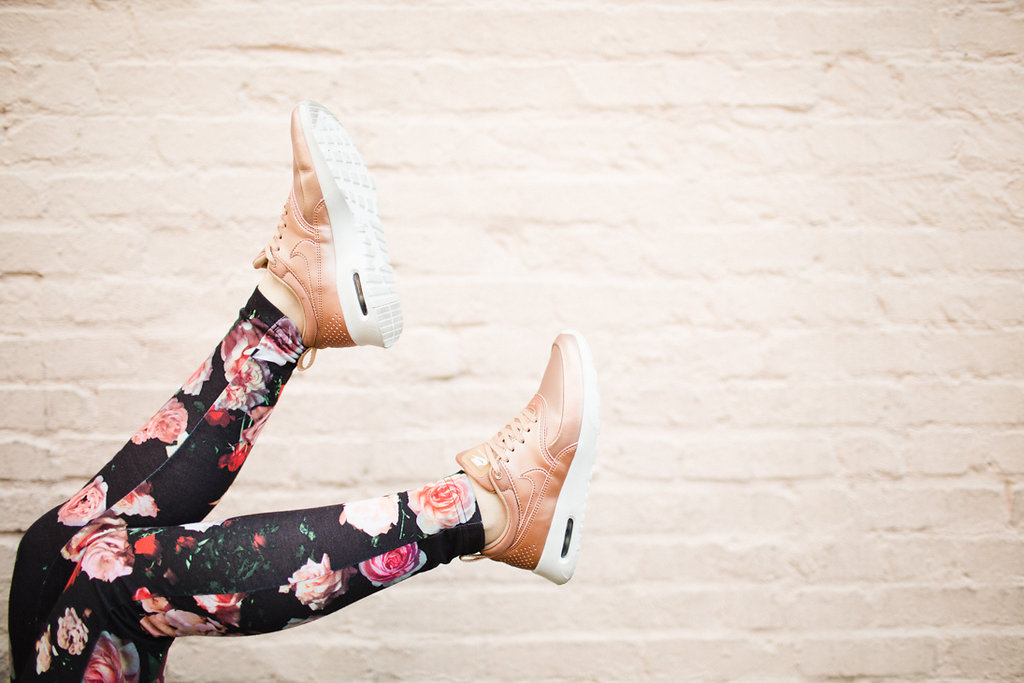 OMG need some rose sneakers in my life! Nike Air Max Thea