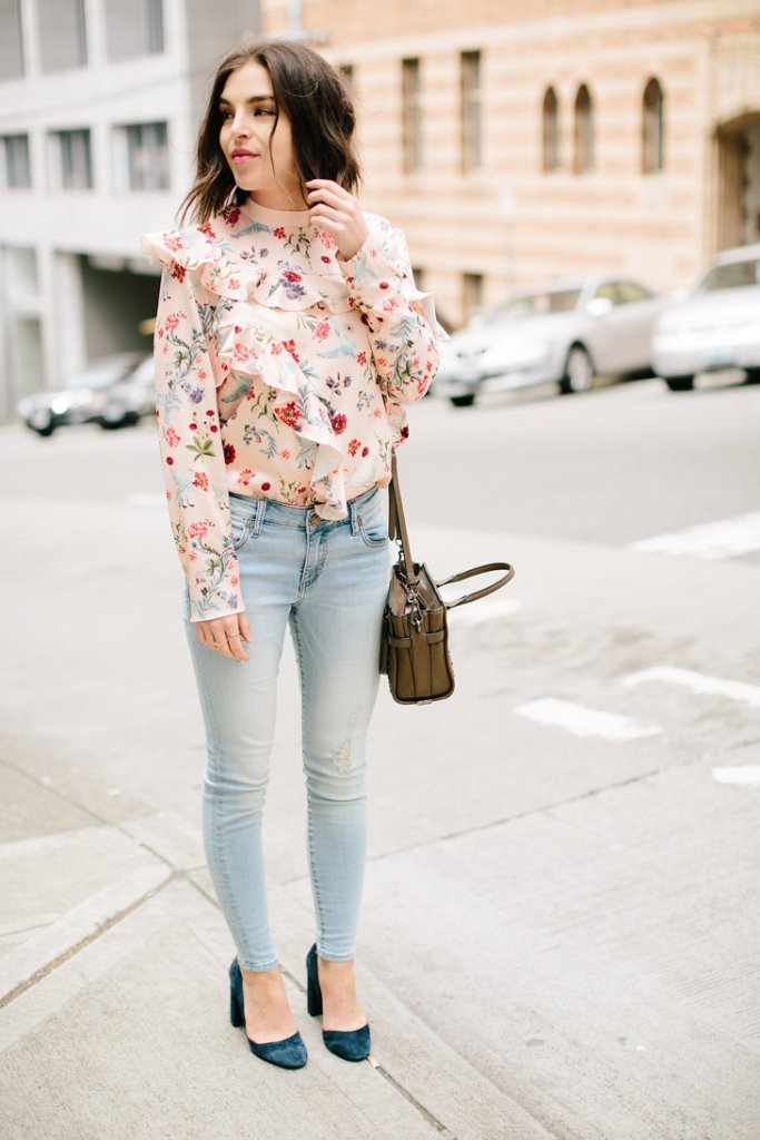 Statement Blouse, Ruffle blouse, ruffle trend, ruffle long sleeve shirt