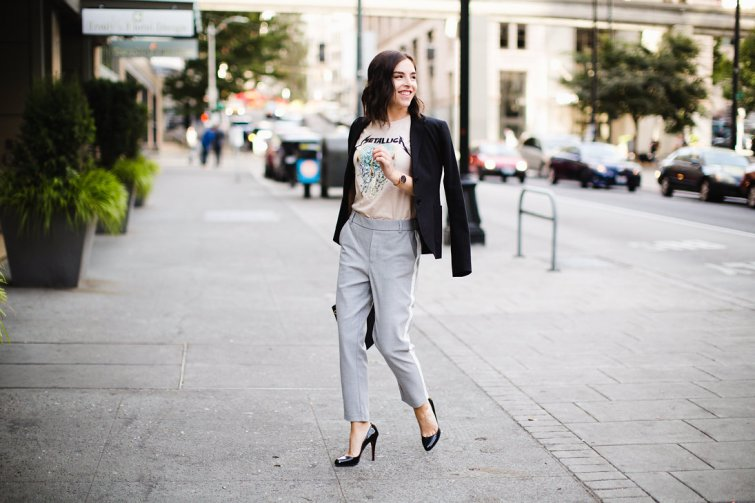 How to Wear Street Style Trends at Work