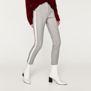 Light gray trousers with side stripe