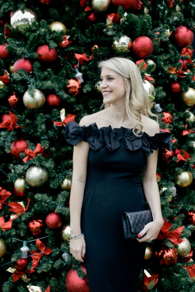 Holiday Party Outfit Ideas Black Dress