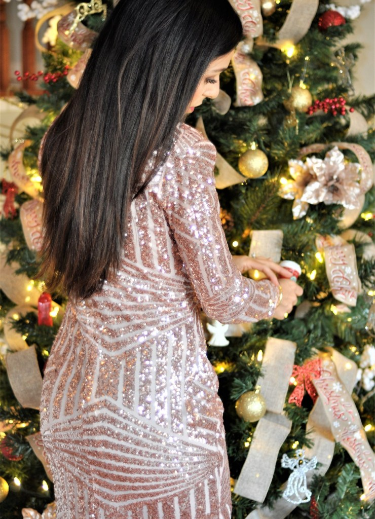 Holiday Party Outfit Ideas Sequin Dress