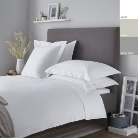 200TC Cotton Percale Oxford Duvet Cover Set