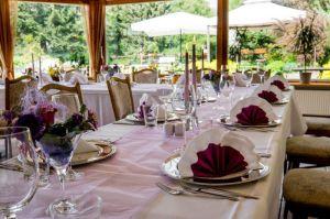 Räumlichkeiten zum Feiern im Harz mit Garten im Hotel Harzer Hof Herzberg-Scharzfeld