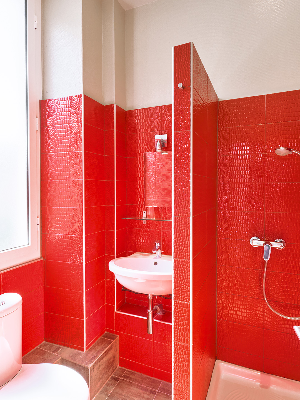 Hôtel Lemon - Menton - Salle de bain - vue jardin