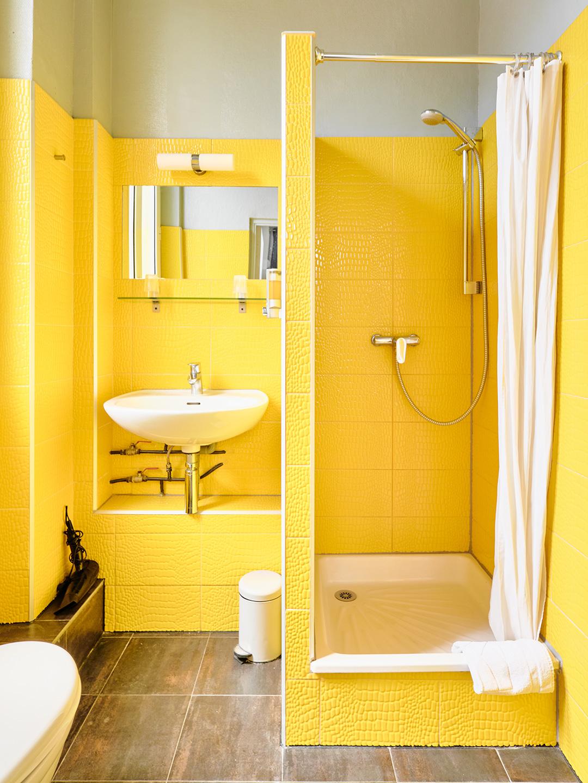 Hôtel Lemon - Menton - Salle de bain - vue jardin 2