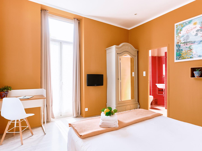 Hôtel Lemon - Menton - Chambre vue jardin 3