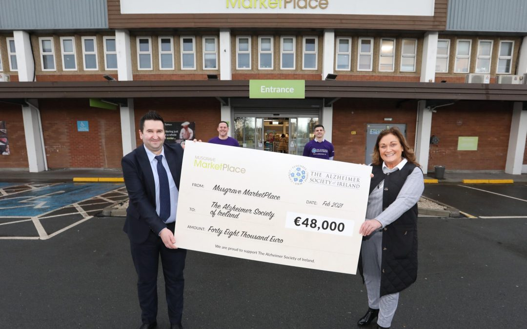Musgrave MarketPlace raises €48,000 for The Alzheimer Society of Ireland in 2020