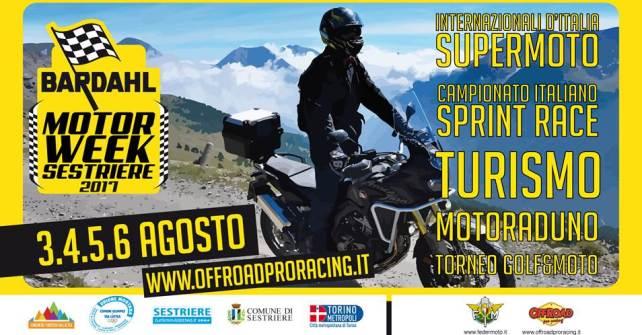 Bardahl Motorweek Sestriere: dal 3 al 6 agosto Tricolore Supermoto, Sprint Race,  motoraduno e molto altro ancora.