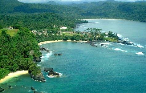 Uma das costas verdes de S. Tomé e Príncipe.