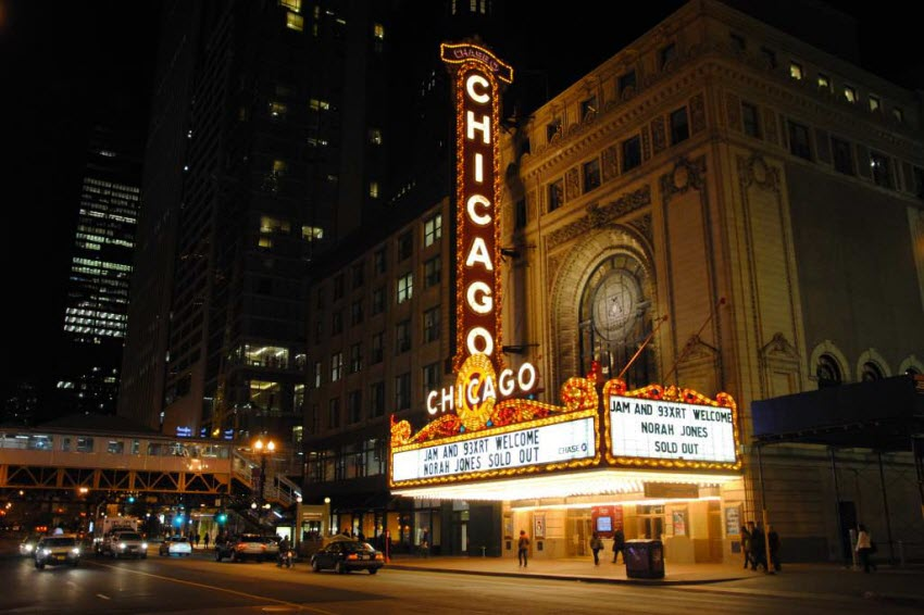 Best Places to Visit in USA in December   HotelCluster com Blog chicago theatre