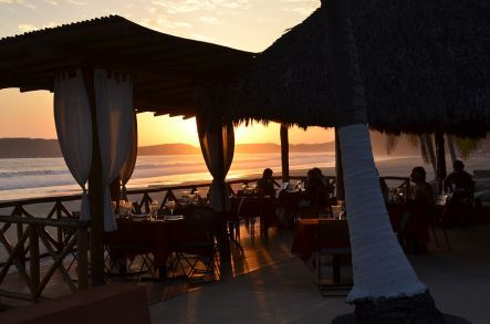 Sunset view from the Restaurant