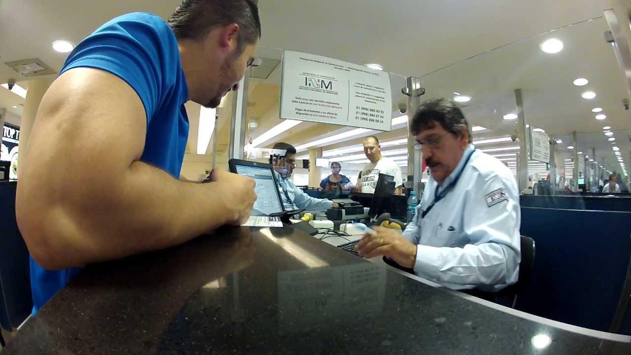 Inmigración en el aeropuerto de Cancún