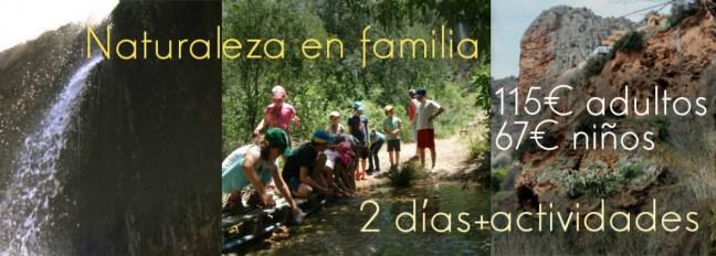 Actividades de naturaleza en familia