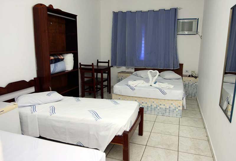Acomodações do Hotel Litoral Norte em Caraguatatuba