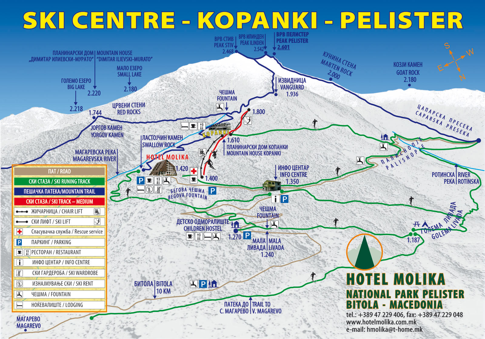 "Pricelist for using the services of ski center ""Kopanki"" – Pelister"