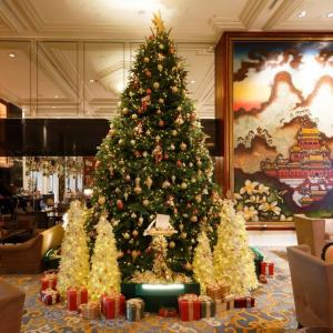 Decoração de Natal do Kowloon Shangri-la