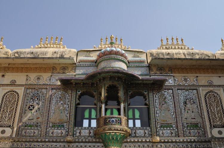 Detalhe da construção do City Palace