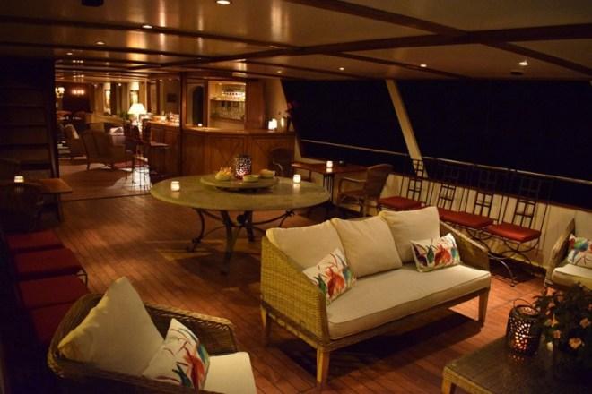 Deck at night