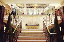Royal & Commonwealth Suites entrance stairway