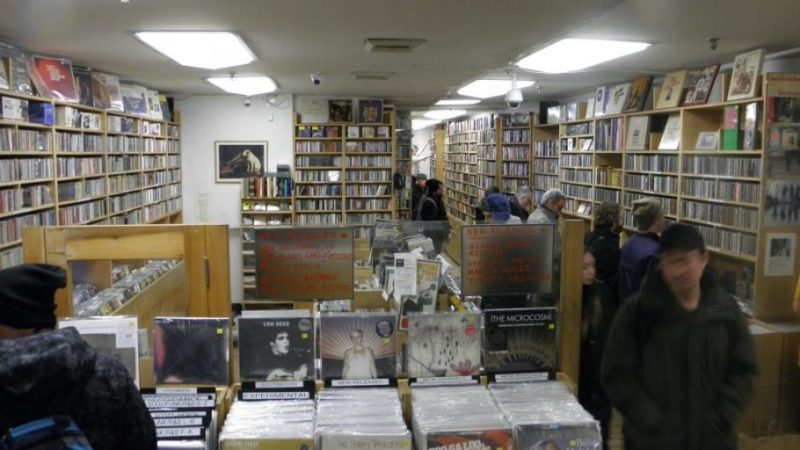 Vinyl enthusiasts dig through vinyl at NYC's Academy Records & CDs