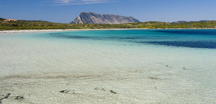 La spiaggia di Cala Brandinchi, a pochi chilometri dall'hotel