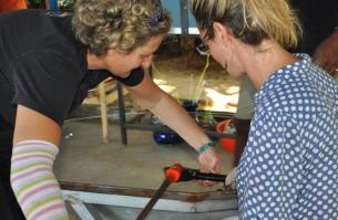 Student - Glass blowing experiance