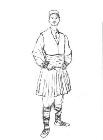 Ανδρική φορεσια Επισκοπής / Ημαθίας