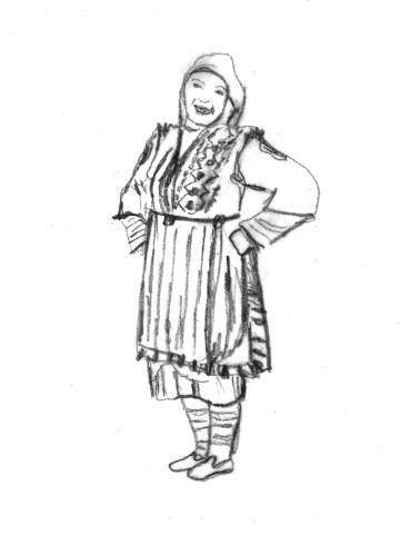 Γυναικεία φορεσιά Ανταρτικού (Ζέλοβο) Φλώρινας