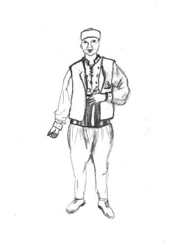 Ανδρική φορεσιά Ανατολικής Ρωμυλίας/ Καβακλί