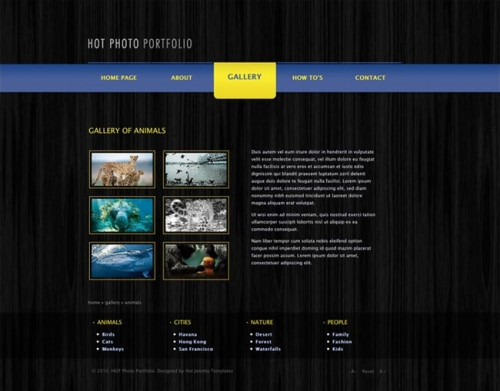 Hot Photo Portfolio Joomla Portfolio Template HotThemes