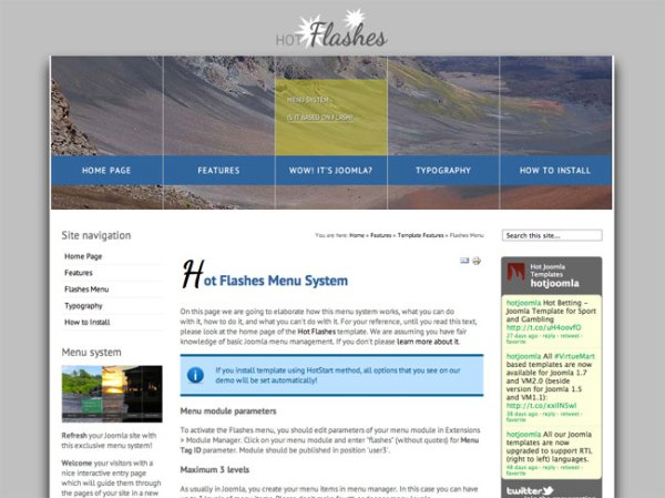 Hot Flashes Joomla Menu Slideshow HotThemes