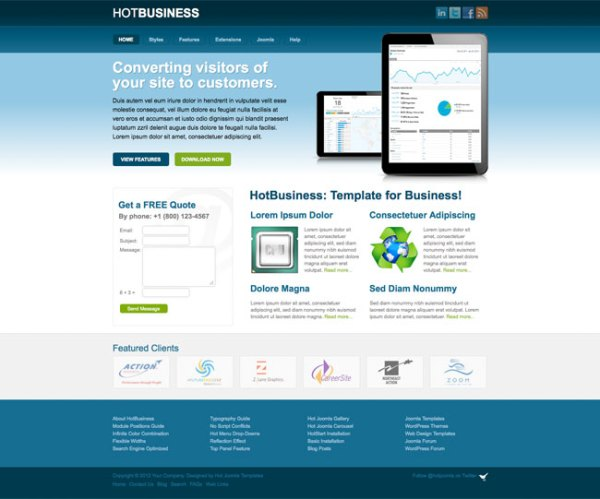Joomla Business Template Hot Business HotThemes