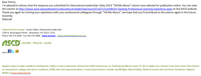 ASCD publication notice May 2014
