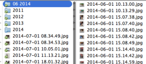 now all pics from one month are in one folder