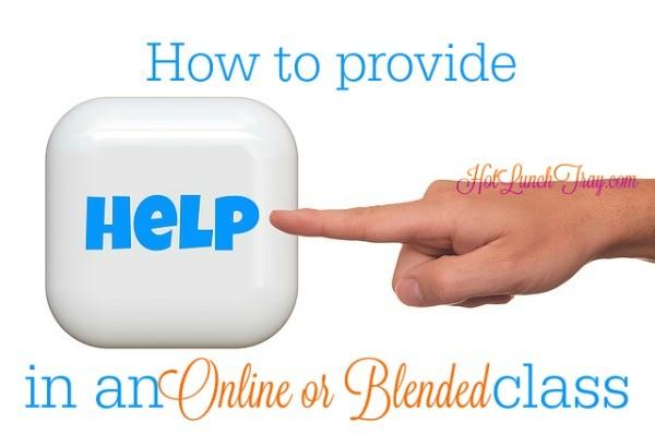Help Module in Online Blended Class