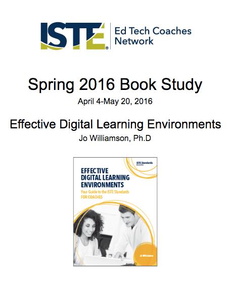 ISTE Spring 2016 Book Study