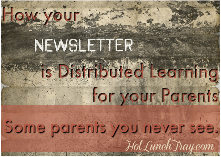 Newsletter Distributed Learning for Parents