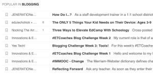 influential blogs in my feedly