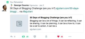 Tweet on 30 Day Blog Challenge 2017-01-04 14.36.24