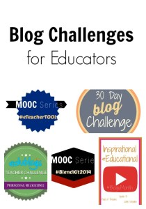 blog challenges for educators