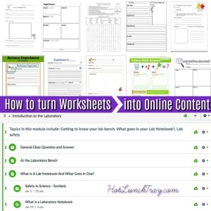 Turn Worksheets into Online Content