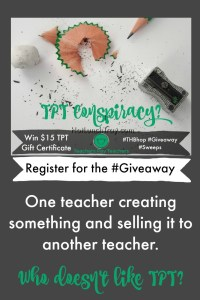 TPT Giveaway PIN