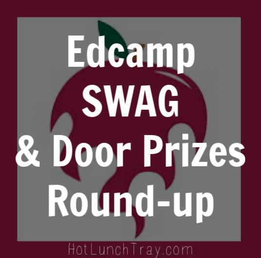 Edcamp SWAG and Door Prizes Round up