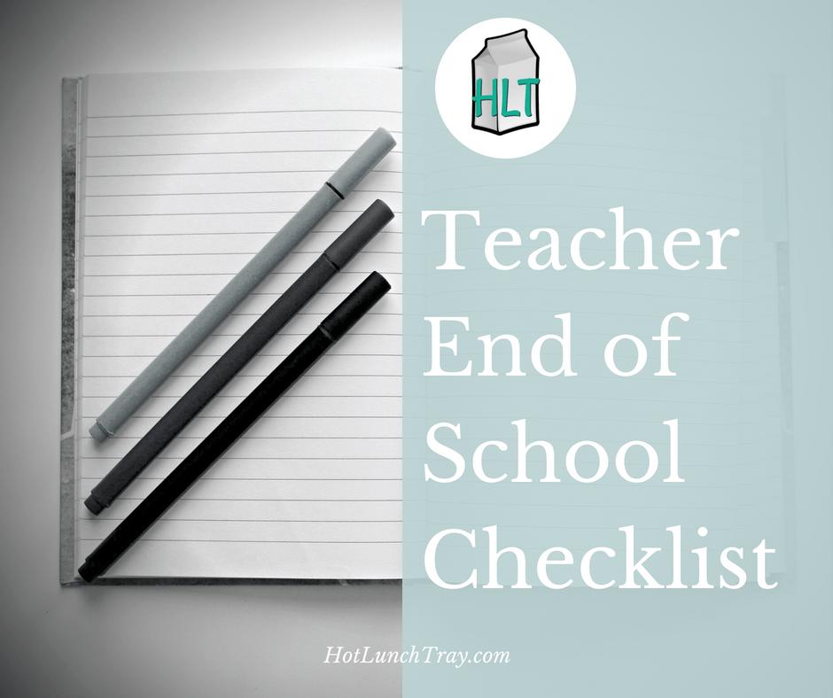 EOY Teacher Checklist