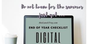 End of Year Digital Checklist Tweet