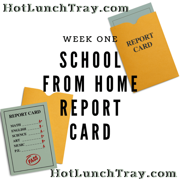 WEEK ONE School from Home Report Card INSTA